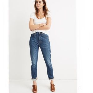 {Madewell} The High Rise Slim Boyjean Size 33